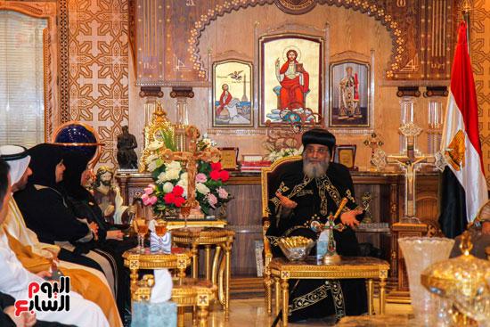 اخبار مصر اليوم  امل القبيسى البابا تواضروس رئيسة المجلس الوطنى الاتحادى بالامارات الكاتدرئية المرقسية (2)