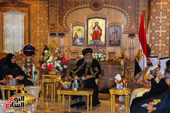 اخبار مصر اليوم  امل القبيسى البابا تواضروس رئيسة المجلس الوطنى الاتحادى بالامارات الكاتدرئية المرقسية (4)
