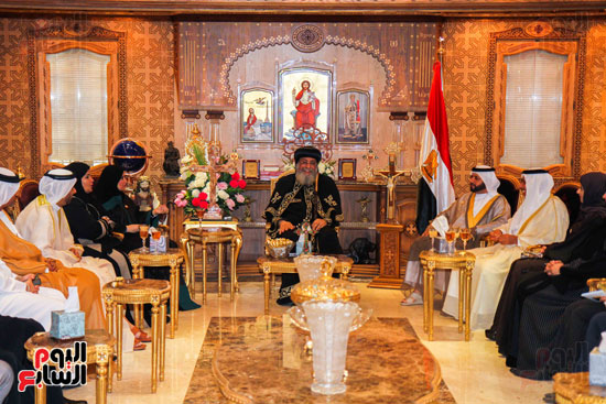 اخبار مصر اليوم  امل القبيسى البابا تواضروس رئيسة المجلس الوطنى الاتحادى بالامارات الكاتدرئية المرقسية (5)