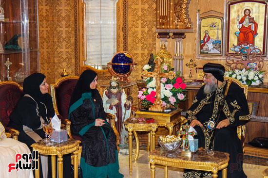 اخبار مصر اليوم  امل القبيسى البابا تواضروس رئيسة المجلس الوطنى الاتحادى بالامارات الكاتدرئية المرقسية (6)