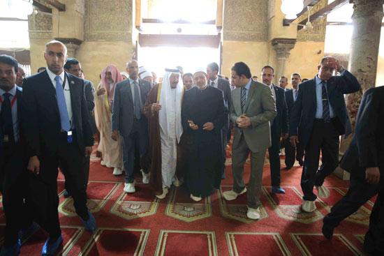 الملك سلمان بن عبد العزيز احمد الطيب الازهر مصر السعودية (12)
