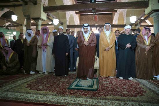 الملك سلمان بن عبد العزيز احمد الطيب الازهر مصر السعودية (14)
