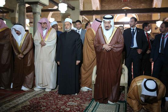 الملك سلمان بن عبد العزيز احمد الطيب الازهر مصر السعودية (15)