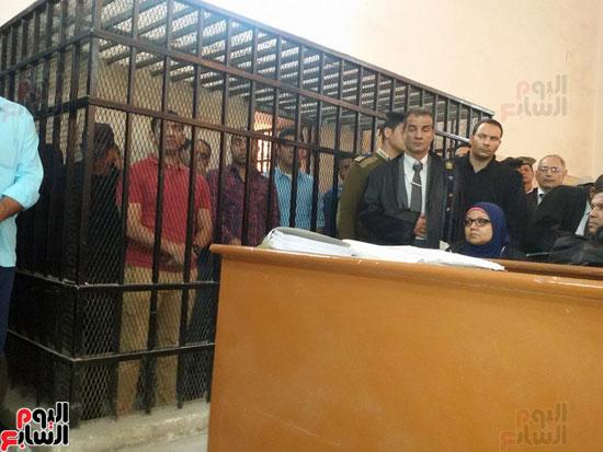 محاكمة المتهمين بقتل طلعت شبيب بقسم شرطة الأقصر (2)