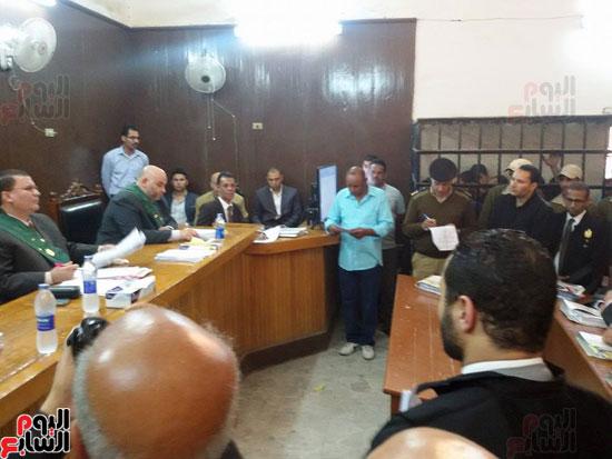 محاكمة المتهمين بقتل طلعت شبيب بقسم شرطة الأقصر (5)