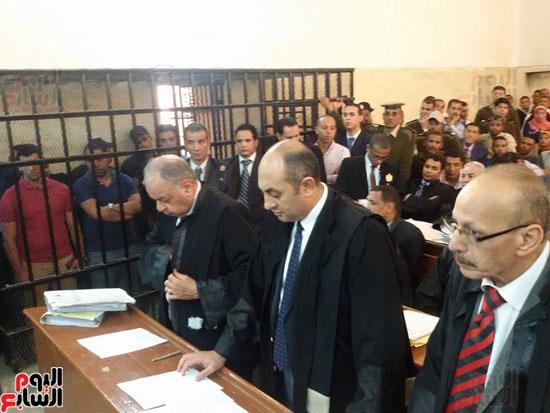 محاكمة المتهمين بقتل طلعت شبيب بقسم شرطة الأقصر (6)
