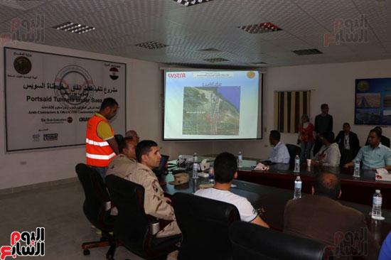 استعراض تفاصيل مشروع حفر ثلاث انفاق أسفل قناة السويس (1)