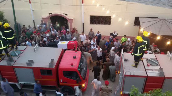 تشيع جثمان شهيدى القوات المسلحة ببنى سويف (6)