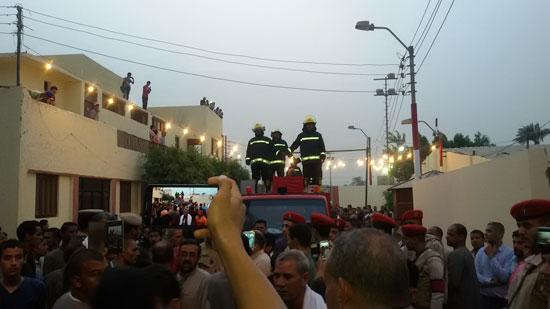 تشيع جثمان شهيدى القوات المسلحة ببنى سويف (9)