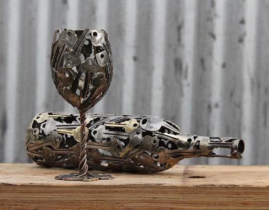 أعمال فنية فريدة مفاتيح الأبواب