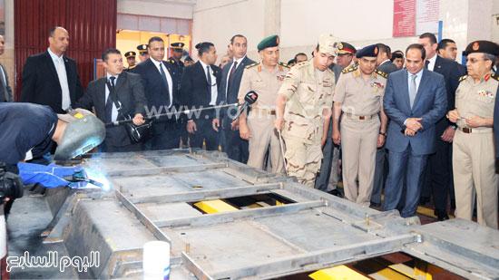 الرئيس عبد الفتاح السيسى يفتتح أعمال تطوير ورش إدارة المركبات بالقوات المسلحة  -اليوم السابع -5 -2015