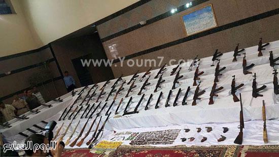 . الأسلحة المضبوطة -اليوم السابع -5 -2015