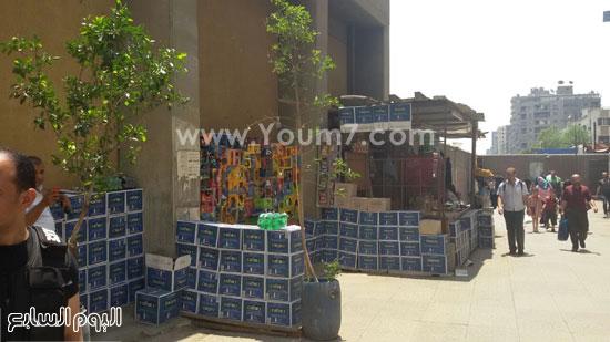 جانب من الإشغلات قبل إزلاتها -اليوم السابع -5 -2015
