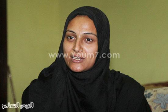 وفاء زوجة محمد عيد -اليوم السابع -5 -2015