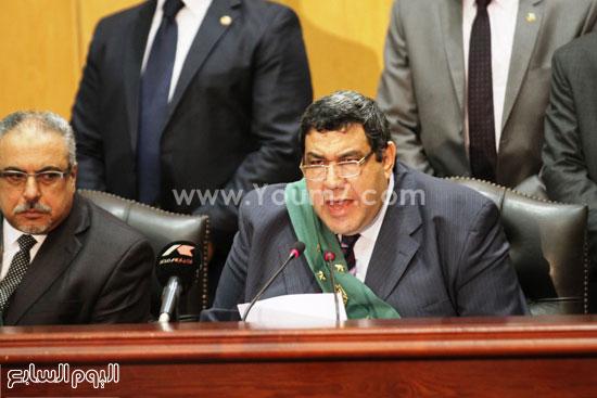 المستشار شعبان الشامى رئيس المحكمة  -اليوم السابع -5 -2015