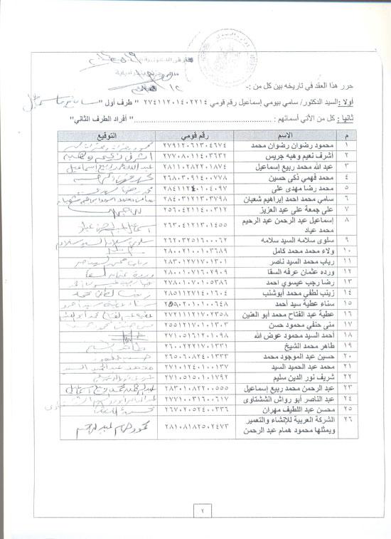 أسماء من تقدمو بحجز الشقق وملىء الاستماره -اليوم السابع -5 -2015
