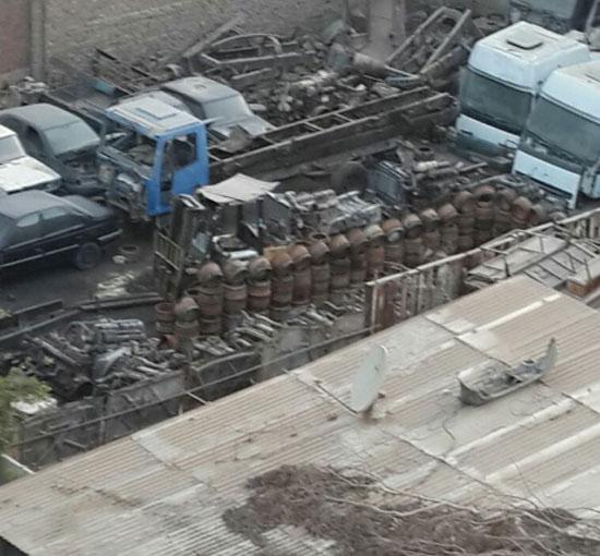 المنطقة تحولت إلى مقلب للسيارات القديمة والخردة -اليوم السابع -5 -2015