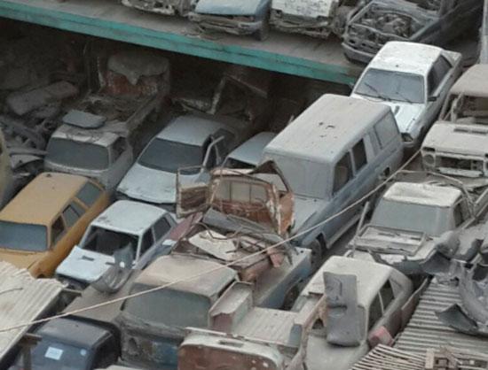 تكدس السيارات والخردة فى شبرا -اليوم السابع -5 -2015