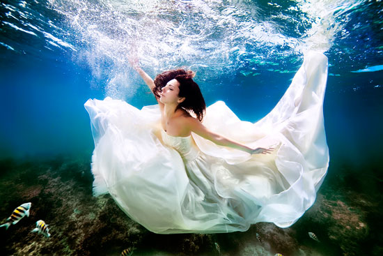 فستان زفاف يتسبب فى غرق العروس -اليوم السابع -5 -2015