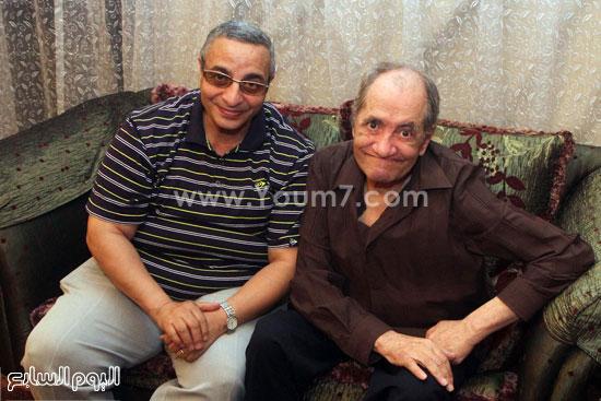 المصور الصحفى سامى وهيب مع المطرب الكبير ماهر العطار -اليوم السابع -5 -2015