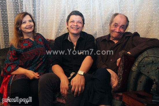 المطرب الكبير ماهر العطار وزوجته ونجله أحمد -اليوم السابع -5 -2015