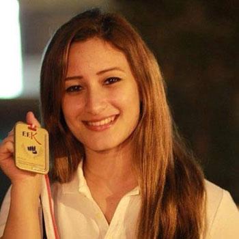 سارة عاصم لاعبة نادى إنبى ومنتخب الكاراتيه -اليوم السابع -5 -2015