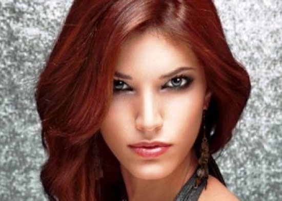 الوان صبغات الشعر البني المحمر