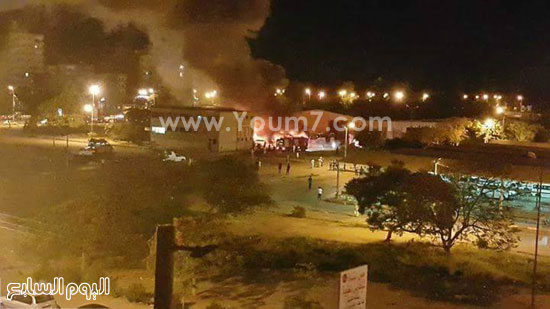 الحريق نشب فاجأة فى الأتوبيسات -اليوم السابع -5 -2015