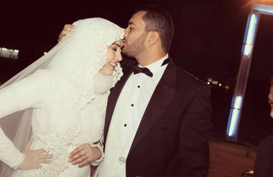 الجبلى مع عروسه -اليوم السابع -5 -2015