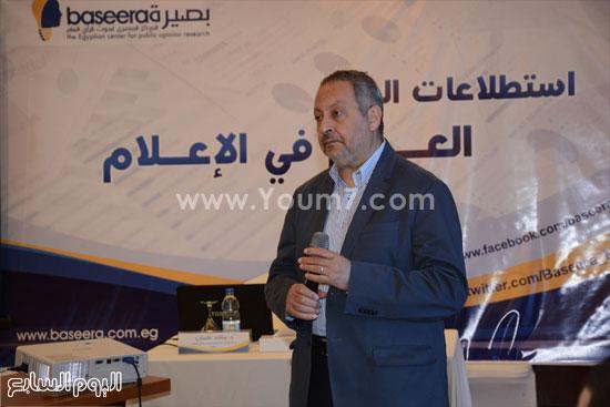 الدكتور ماجد عثمان رئيس مركز بصيره فى الورشة التدريبية  -اليوم السابع -5 -2015
