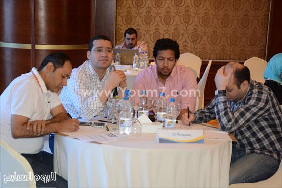 المشاركون فى الورشة محمود التميمى ويوسف شعبان  -اليوم السابع -5 -2015