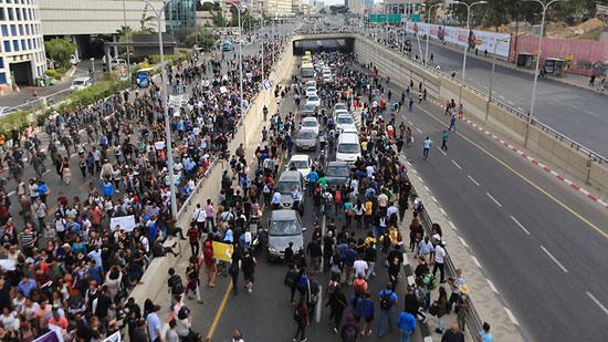 جانب من المظاهرات  -اليوم السابع -5 -2015