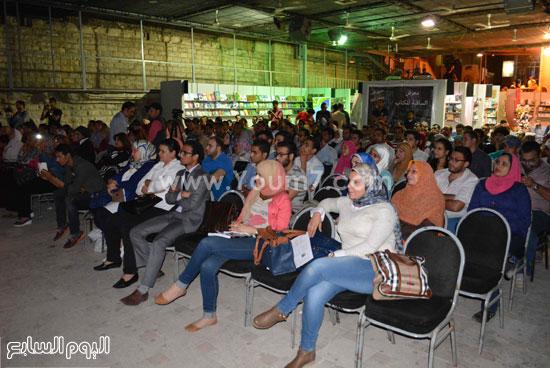 الجمهور يتابع حديث الاعلامى يسرى فودة -اليوم السابع -5 -2015