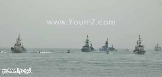 الوحدات البحرية المصرية والبحرينية خلال التدريب المشترك حمد 1  -اليوم السابع -5 -2015