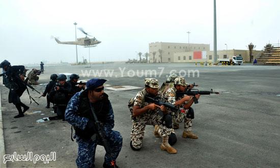 عناصر من القوات الخاصة البحرية تشارك فى التدريب حمد 1  -اليوم السابع -5 -2015
