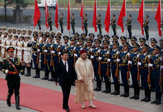 محمد السادس العاهل المغربى يصل بكين فى زيارة رسمية للصين (1)