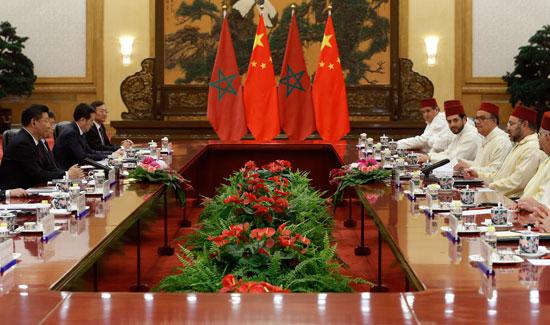 محمد السادس العاهل المغربى يصل بكين فى زيارة رسمية للصين (10)