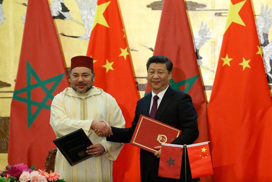 محمد السادس العاهل المغربى يصل بكين فى زيارة رسمية للصين (11)