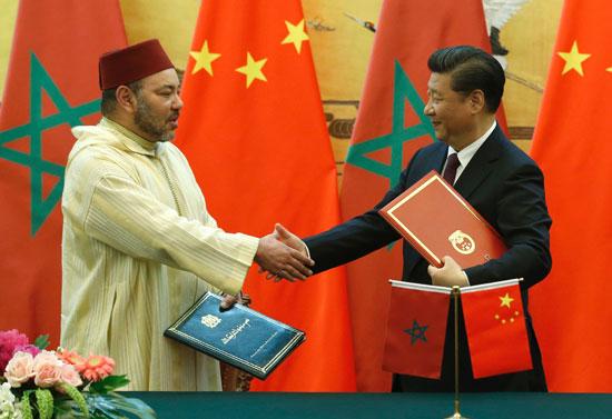 محمد السادس العاهل المغربى يصل بكين فى زيارة رسمية للصين (4)