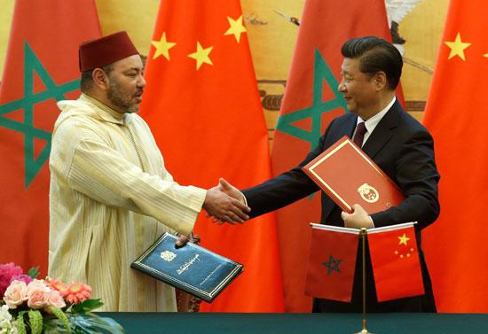 محمد السادس العاهل المغربى يصل بكين فى زيارة رسمية للصين (6)