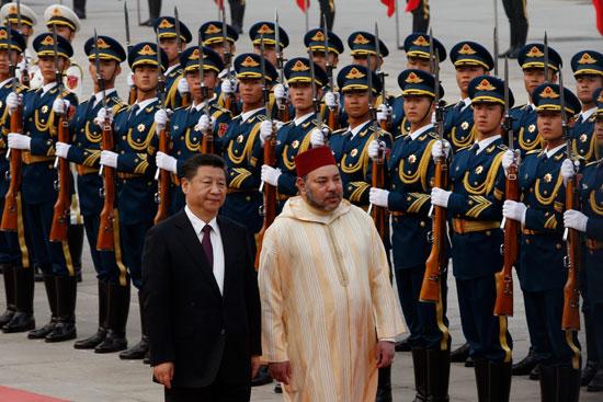 محمد السادس العاهل المغربى يصل بكين فى زيارة رسمية للصين (8)