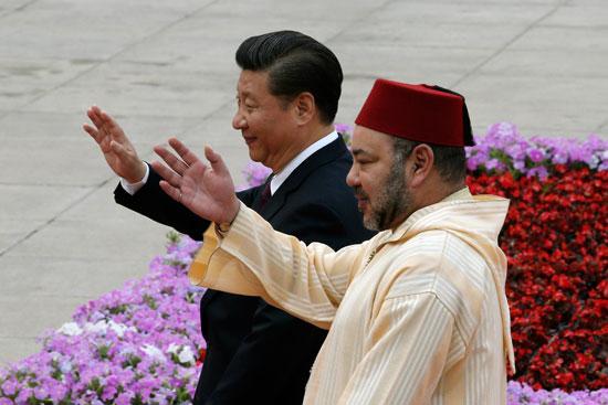 محمد السادس العاهل المغربى يصل بكين فى زيارة رسمية للصين (9)