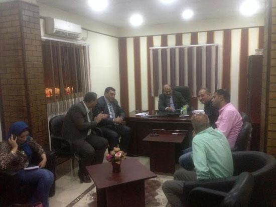 جانب من زيارة رئيس شركة المياه لمحطات  بورسعيد (2)