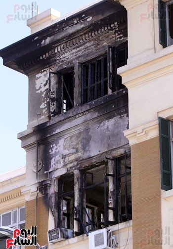 حريق مبنى محافظة القاهرة (6)
