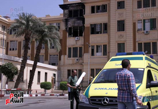 حريق مبنى محافظة القاهرة (7)