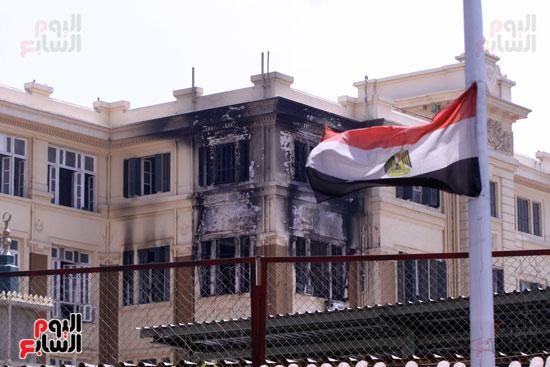 حريق مبنى محافظة القاهرة (8)