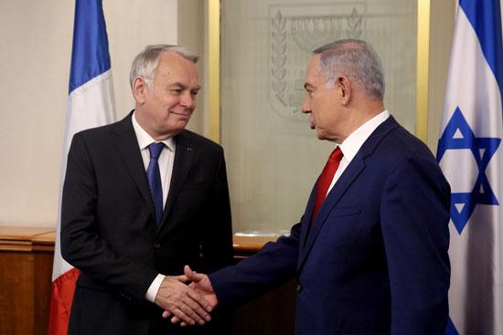وزير الخارجية الفرنسى يبحث مع نتانياهو مبادرة السلام الفرنسية (2)