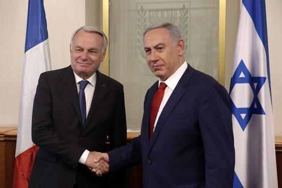وزير الخارجية الفرنسى يبحث مع نتانياهو مبادرة السلام الفرنسية (3)