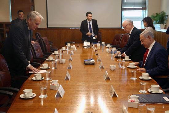 وزير الخارجية الفرنسى يبحث مع نتانياهو مبادرة السلام الفرنسية (4)