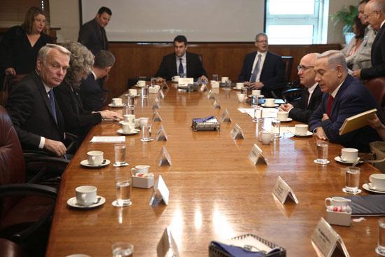 وزير الخارجية الفرنسى يبحث مع نتانياهو مبادرة السلام الفرنسية (5)